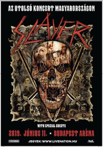 Hír: A Slayer 2019-ben Budapestre látogat