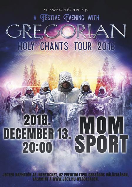 Hír: GREGORIAN Holy Chants Tour 2018
