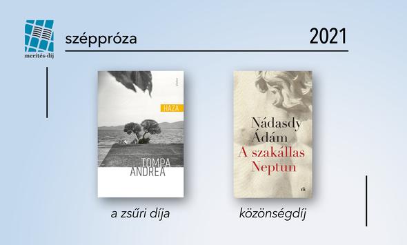 Hír: Tompa Andrea és Nádasdy Ádám nyerték 2021-ben a Merítés-díjat széppróza kategóriában