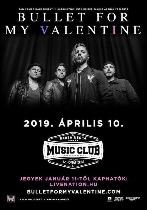 Hír: Bullet For My Valentine áprilisban a Barba Negrában